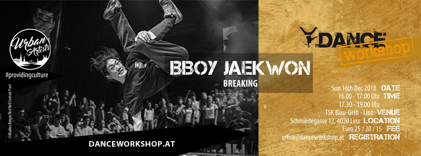 DANCEworkshop with Jaekwon | Breaking | 16. Dezember 2018