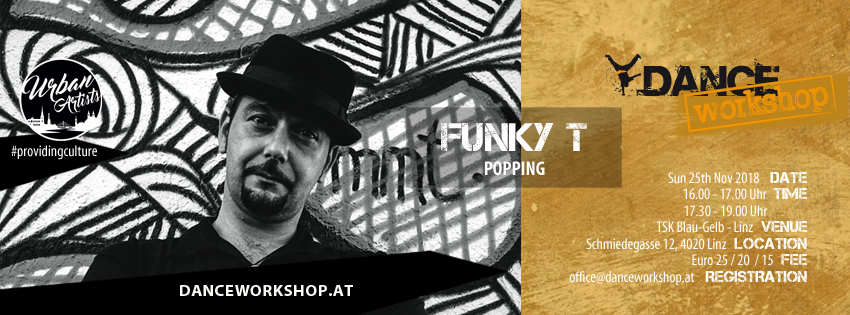 DANCEworkshop with Funky T | Popping | 25. November 2018