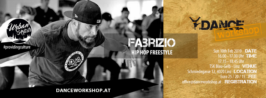 DANCEworkshop with Fabrizio | Hip Hop | 10. Februar 2019